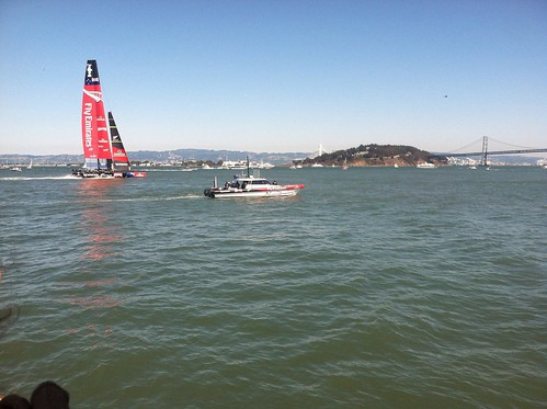 America's Cup with Team Oracle USA and New Zealand's Team