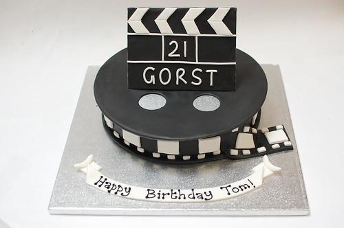 Awesome Film Cake Beautiful Birthday Cakes Funny Birthday Cards Online Alyptdamsfinfo