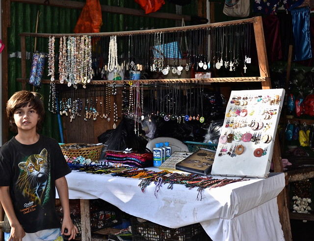Jewelry Stalls - Monterrico, Guatemala