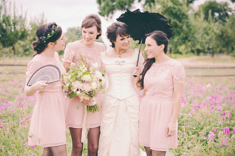 Emilia Ryans Victorian garden party wedding Offbeat Bride