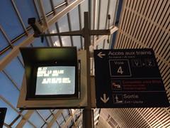 Trajet Ouigo, train low-cost (SNCF,France)