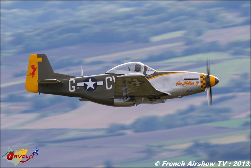 Replique Spitfire P-51 Mustang Focke Wulfe MM Quincy et Wim van den Brand a Cervolix 2013