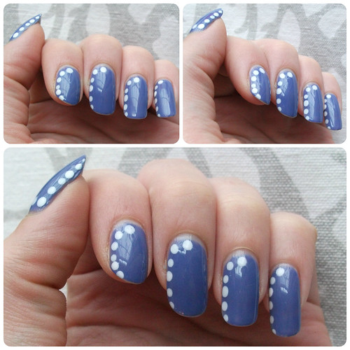 Polka Dot Border Nail Art NOTD