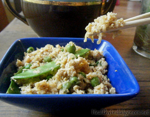 Riced Cauliflower in a Stir Fry (Grain-Free, Low Glycemic)