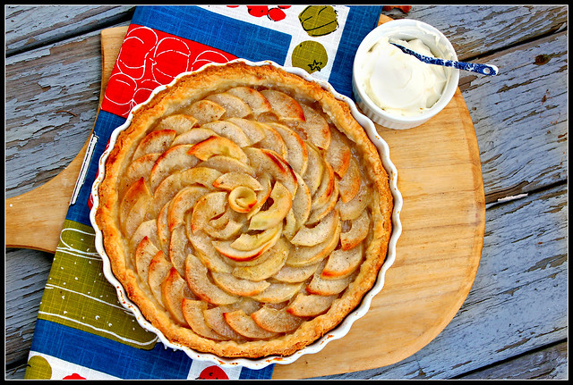 Vanilla Bean Pear & Apple Tart