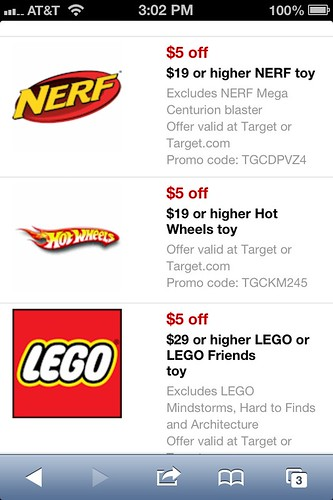 Save 5 00 Or More New Target Mobile Coupons For Toys The Shopper S Apprentice