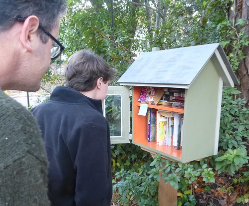 Thanksgiving 2013, Shreveport; Little Free Library, Line Ave, Shreveport