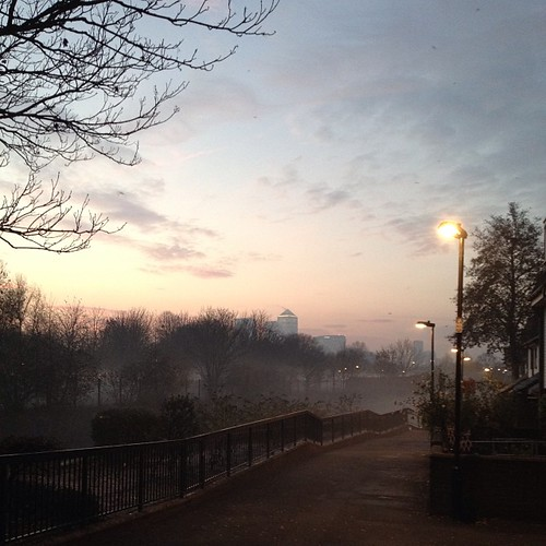 A misty, London morning #nofilter #sunrise #london
