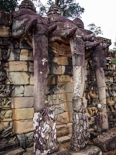 Image of Terrace of the Elephants near Siem Reap.