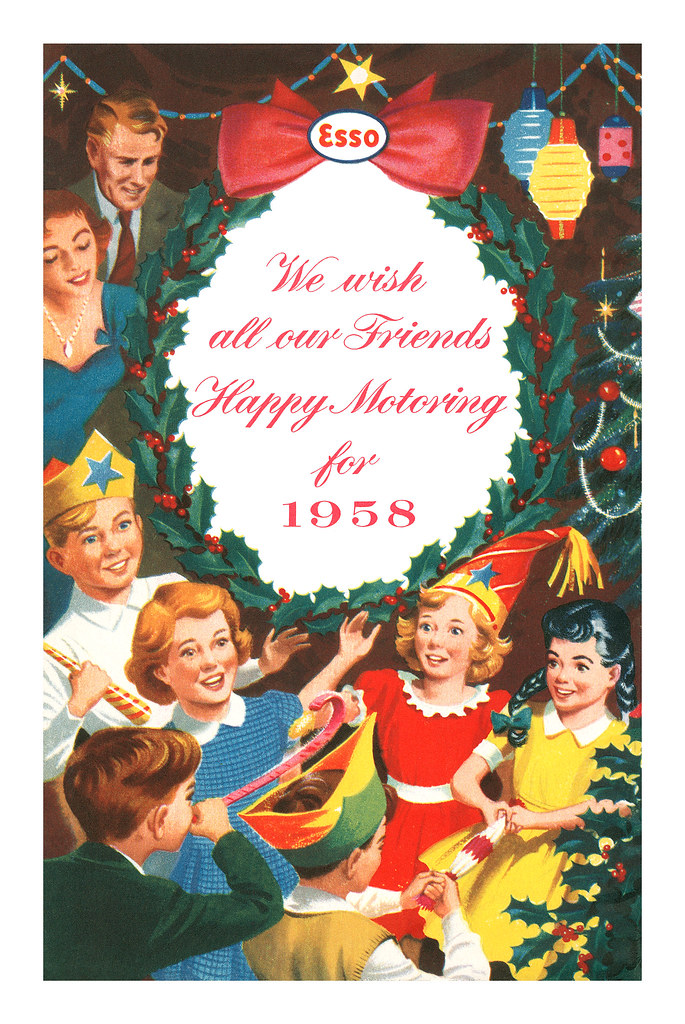 Esso Christmas Party Book - back cover - 1958
