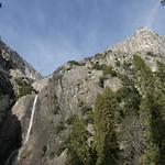 The falls at Yosemite