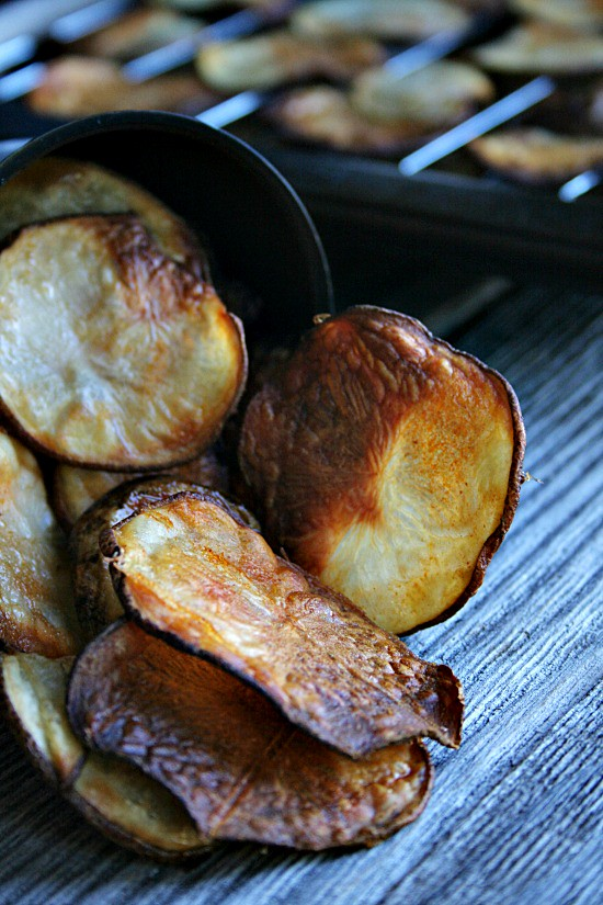 Buffalo Style Baked Potato Chips