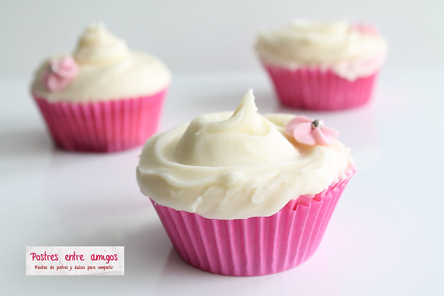 Cupcakes de vainilla de Magnolia Bakery