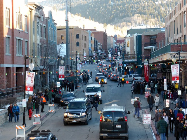 Park City During Sundance Film Festival (Day)