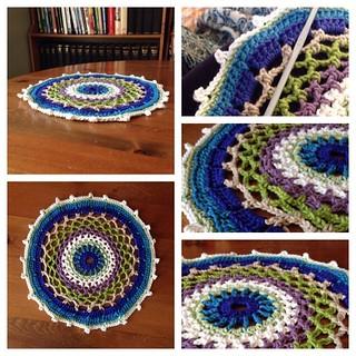 Proud. #crochetaddict #simplycrochet #mandala