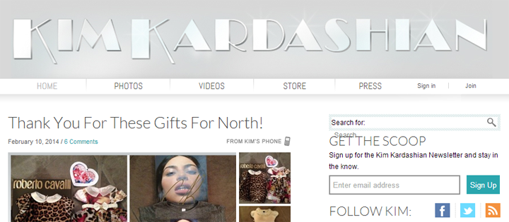 screenshot official website kim kardashian | ekajogja.com