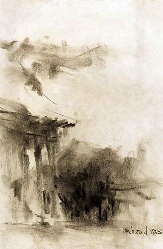 Chehel Sotoun (5) by Behzad Bagheri Sketches