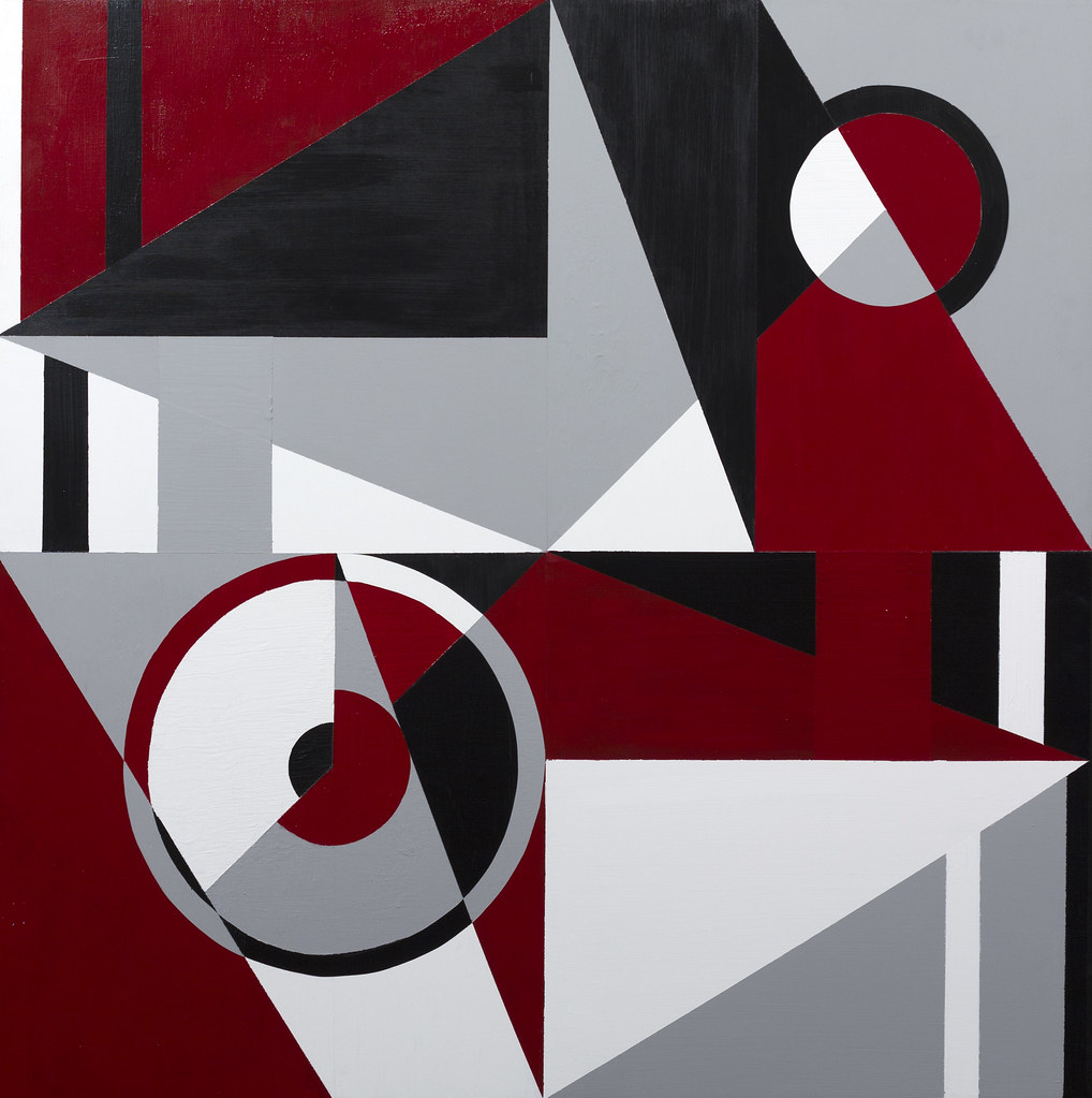 Justin Toland Deconstruction 4' x 4' Acrylic on Masonite 2013
