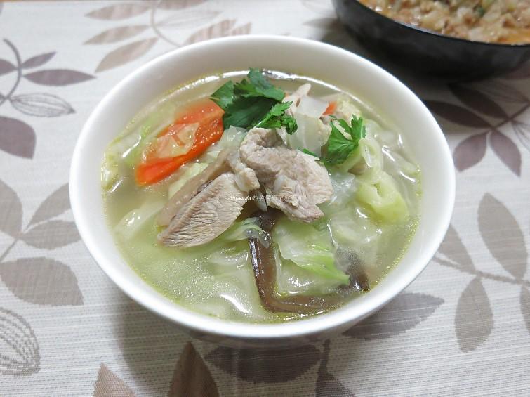 蔬菜雞片湯