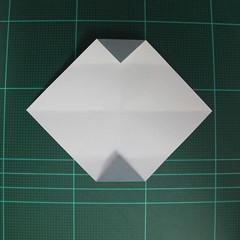 วิธีพับกระดาษเป็นรูปลูกสุนัข (แบบใช้กระดาษสองแผ่น) (Origami Dog) 011