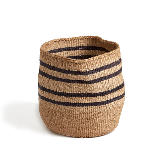 striped basket