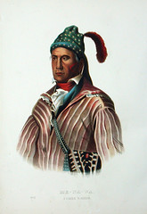 Chief Menawa was the leader of the Red Stick army at the Battle of Horseshoe Bend. Although he survived battle, he did not survive the aftermath of the Creek War: Menawa died in 1835 during the