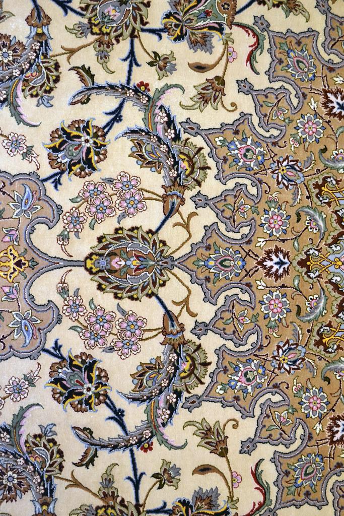 Isfahan Silk 10x13 Master Piece Persian Area Rug - نقش اصفهان کف ابريشم