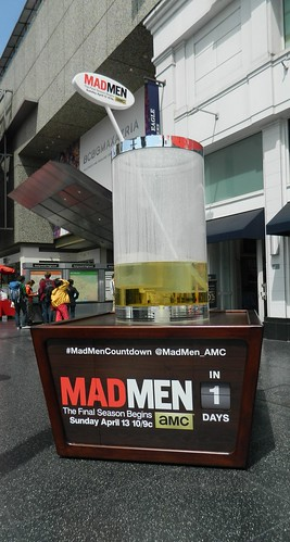 "Ad for the AMC television series ""Mad Men"" in Hollywood, California"