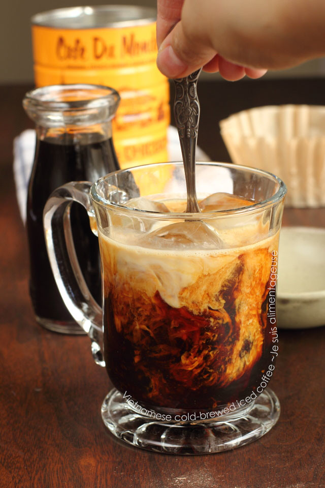 Vietnamese Cold-Brewed Iced Coffee - Sweeter than hot-brewed, dark ...