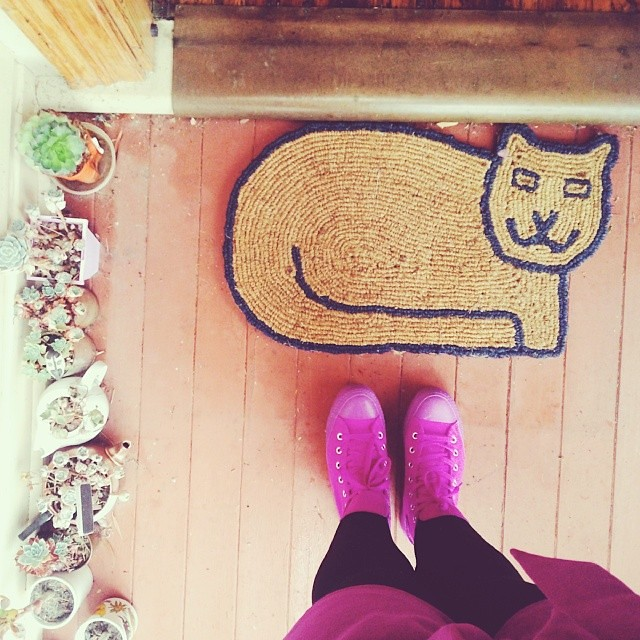 New door mat.