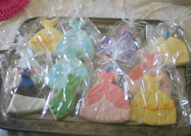 Princess dress cookies