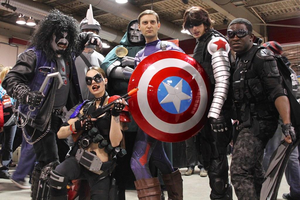 Captain America & crew