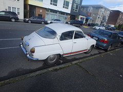 automobile, executive car, vehicle, mid-size car, compact car, antique car, sedan, classic car, vintage car, saab 96, land vehicle, motor vehicle,