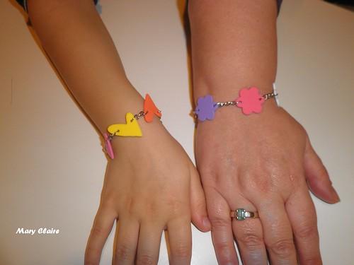braccialetti gomma crepla indossati