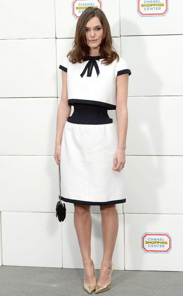 Chanel-monochrome-wasp-waisted-dress, hourglass dress,cinched-waist-dresses
