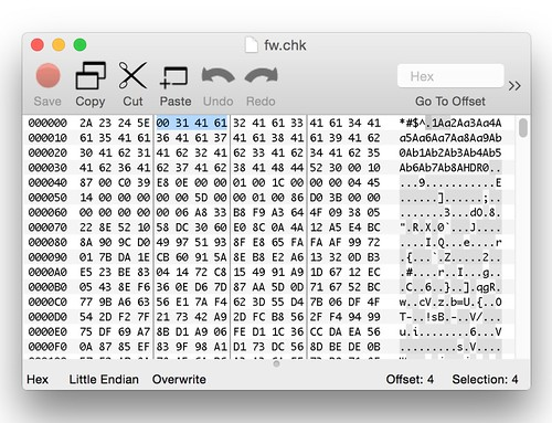 hex dump of firmware