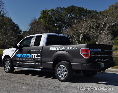 Matte truck wrap by TechnoSigns in Orlando, Florida
