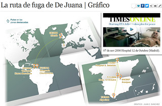 La ruta de fuga de De Juana Chaos | GRAFICO
