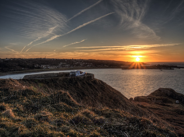 Sunset over Braye Bay , Alderney