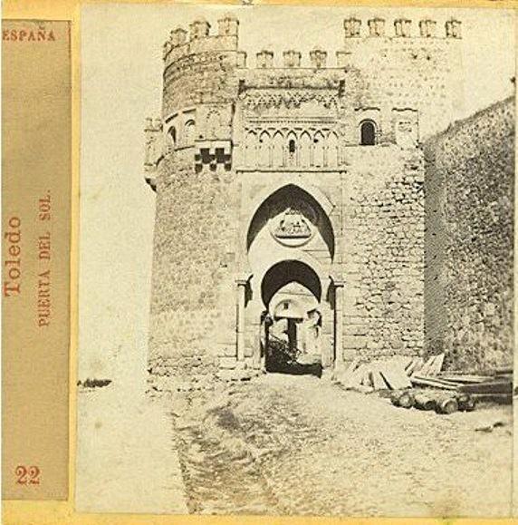 Puerta del Sol en 1863 por Ernest Lamy