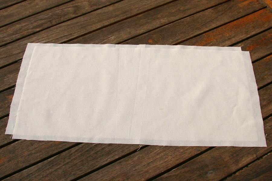 Tuto couture - bouillotte dorsale graines de lin - Etape 2