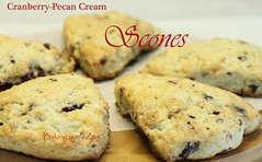 Cranberry-Pecan Cream Scones for Breakfast on Valentine's Day