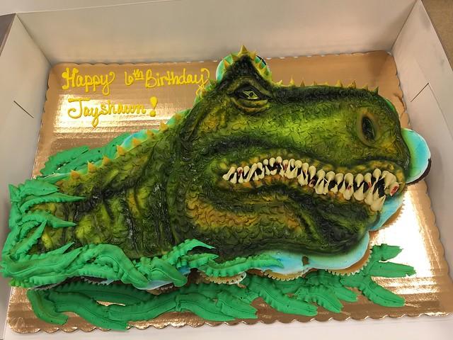 Dinosaur Inspired Cake by Anna Ubel
