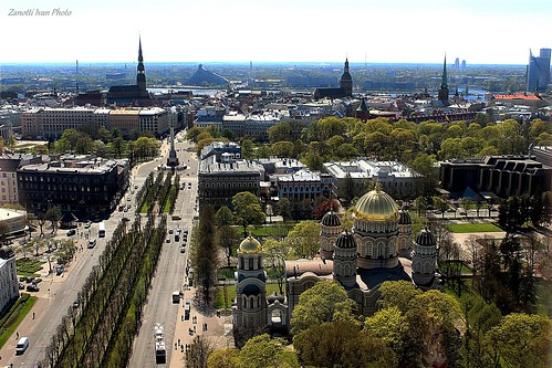 city cityscape view baltic latvia panoramica riga lettonia latvija baltico vecriga