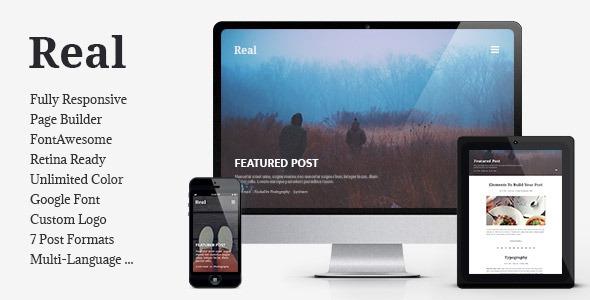 REAL v1.3.8 - Responsive Blog WordPress Theme