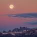 Sunrise Full Moon Set on Summer Solstice by Jeffrey Sullivan