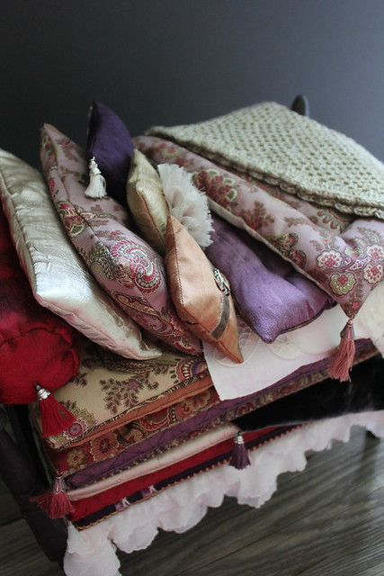 Custom Princess and the Pea bed linens