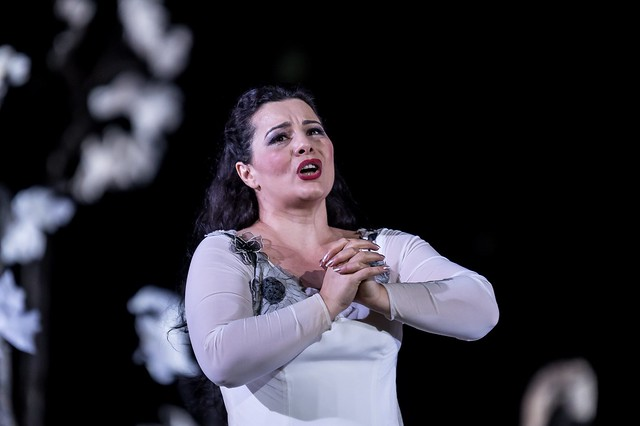 Lianna Haroutounian as Leonora in Il trovatore, The Royal Opera © 2016 ROH. Photograph by Clive Barda