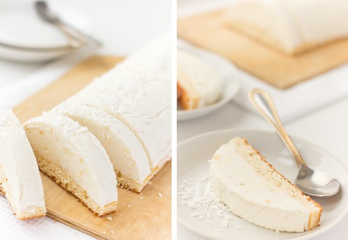 Raffaello Ice Cream Cake
