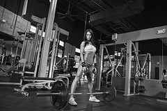 weight training, room, deadlift, muscle, monochrome photography, barbell, physical fitness, monochrome, black-and-white, bodybuilding, gym,